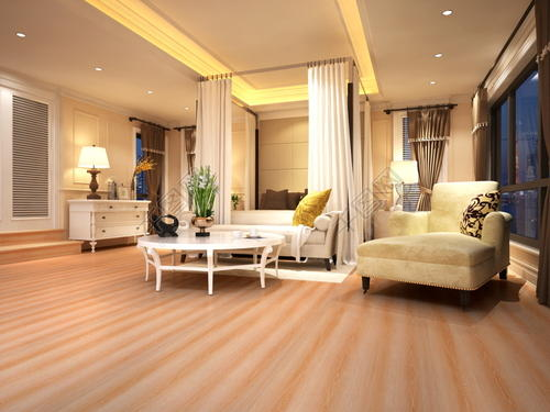 手刮类仿古实木地板适合的装修风格偏向于古典型,如欧式古典,新中式